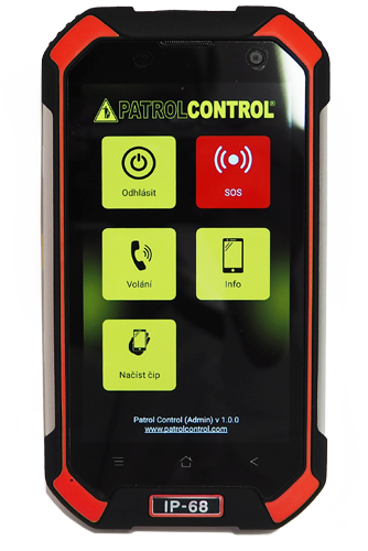 patrolcontrol app with mobile phone